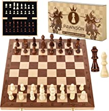 Wooden Chess Set for Kids and Adults – 15 Staunton Chess Set – Large Folding..