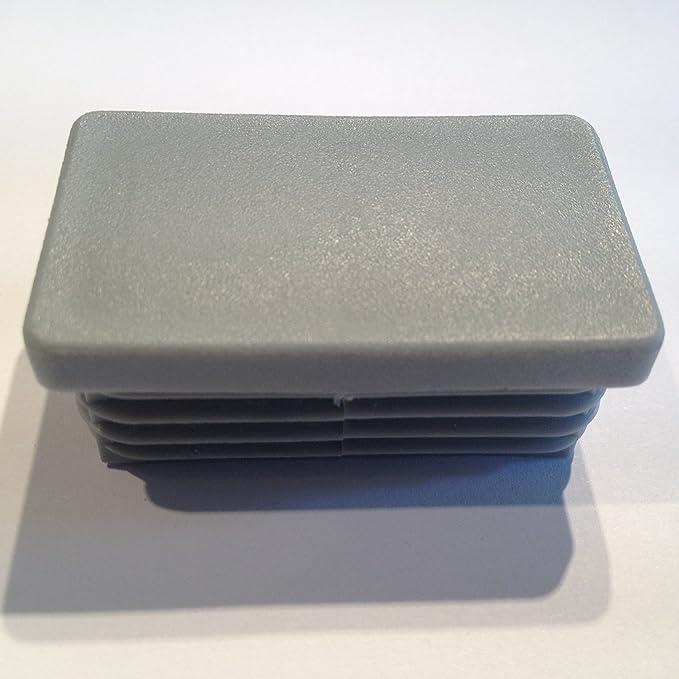 5 St/ück Rechteckstopfen 50x30 mm Wei/ß Kunststoff Endkappen Verschlusskappen