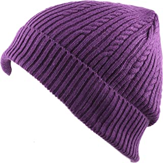 THE HAT DEPOT 200h Unisex Light Weight Chunky Cable Knit Beanie Hat
