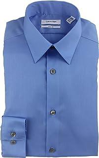 Calvin Klein Men's Slim Fit Dress Shirt Solid Non Iron Cotton 33T0477