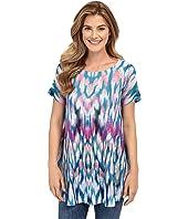 Nally & Millie - Blue Leopard Print Tunic