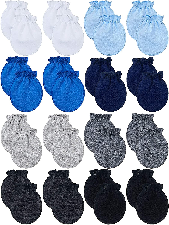 16 Pairs Newborn Baby Mittens No Scratch Gloves Unisex Newborn Mittens for baby Boys Girls 0-6 Months (Multi-Color): Clothing