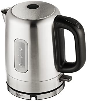 AmazonBasics Stainless Steel Portable Fast, Electric Hot Water Kettle for Tea and Coffee