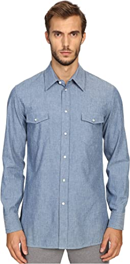 Slim Fit Chambray Button Up