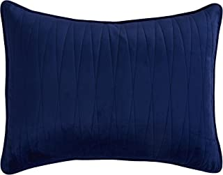 Brielle Premium Heavy Velvet Sham Set with Cotton Backing, Standard, Navy
