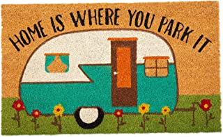 DII Indoor/Outdoor Natural Coir Fiber Spring/Summer Doormat, 18×30, Camper