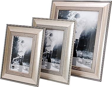 Kiera Grace Wilson Marco de Fotos, Brushed Silver with Embossed Motif, 8 x 10, 1