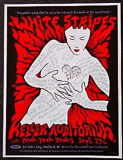 The White Stripes - Yeah Yeah Yeahs - Live at Keller Auditorium - Concert Gig Mini Poster - Portland 2003
