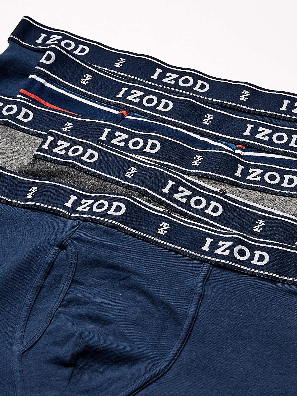 IZOD Men's Underwear – Cotton Stretch Boxer Briefs with Functional Fly (5 Pack)