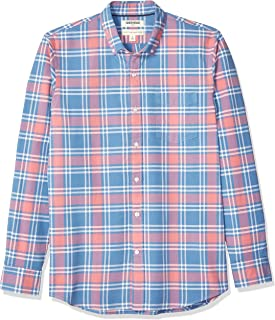 Amazon Brand - Goodthreads Men's Long-Sleeve Plaid Oxford Shirt