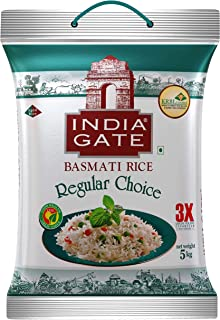INDIA GATE Regular Choice Aged Basmati Rice | Everyday Rice, 5 Kg Pack