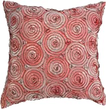 Avarada 16x16 Inch (40x40 cm) Triple Colour Floral Bouquet Decorative Throw Pillow Covers Case Cushion Cover for Sofa Couch Chair Bed Back Zipper Insert Not Included Salmon Pink