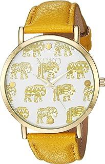 XOXO Women's Quartz Metal Casual Watch, Color:Yellow (Model: XO3463)