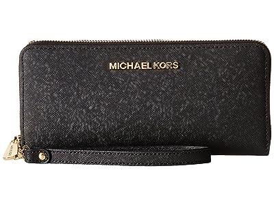 MICHAEL Michael Kors Jet Set Travel Travel Continental (Black) Clutch Handbags