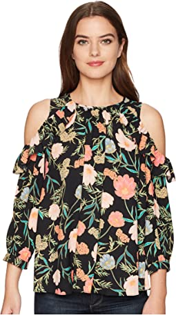 Kate Spade New York Blossom Cold Shoulder Top