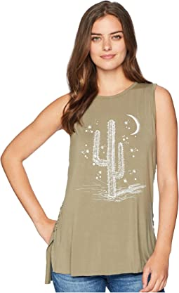 Miss Me Cactus Graphic Tank Top