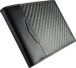 Tactical Wallet with ID and Coin Pocket. Handcrafted from CX6 Carbon Fiber and Genuine Kangaroo leather, RFID blocking, Ultra-slim Minimalist Bifold card holder, Luxury box. Made in Europe!