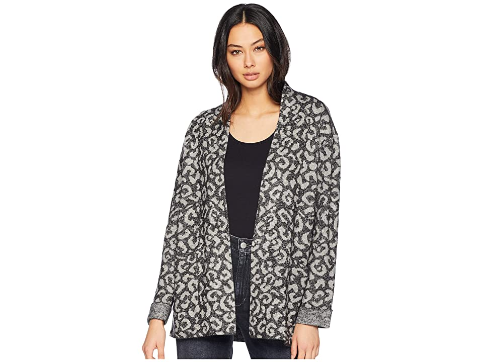 Michael Stars Shawl Collar Jacket with Pockets (Leopard) Women