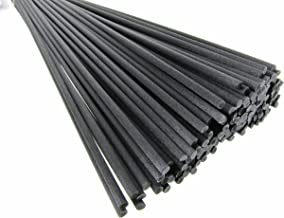 "Breath Me TM Reed Diffuser Fiber Sticks,Ideal Replacement for Home Fragrance Diffusers 12"" X 3mm-Black(25 Pcs)"