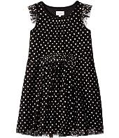 Metallic Printed Mesh Dress (Big Kids)