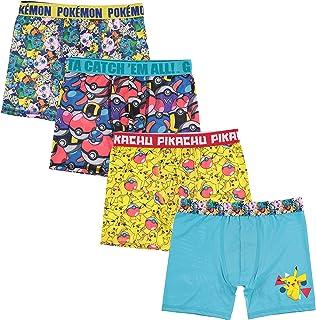 Pokemon Boys BABP8920 Pokemon Athletic Boxer Brief Underwear - Multi