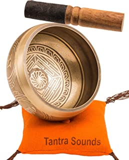 Tibetan Singing Bowl Set by TANTRA SOUNDS - Om Mani Padme Hum - Chakra Balancing, Excellent Resonance Healing & Meditation...
