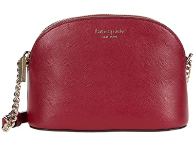 Kate Spade New York Spencer Small Dome Crossbody (Red Currant) Handbags