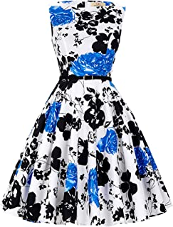 Best royal blue and white floral dress Reviews