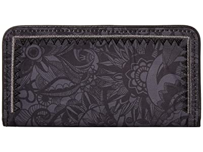 Sakroots Artist Circle Slim Wallet (Black Spirit Desert) Wallet Handbags