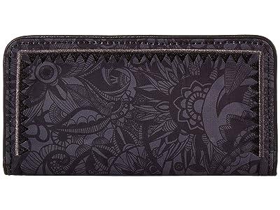 Sakroots Artist Circle Slim Wallet (Black Spirit Desert) Wallet Handbags