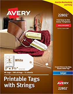 Avery Printable Tags for Inkjet Printers Only, Gift Tags With Strings, 2