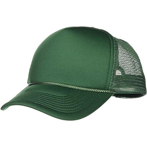 11a84e1792 Green Trucker Hat  Amazon.com