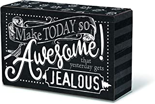 Divinity Boutique Make Today So Awesome Black and White 6 x 4 Wood Encouraging Blox Plaque
