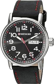 Reloj de cuarzo suizo de acero inoxidable estilo casual para hombre de Wenger 'Actitude Day/Date'