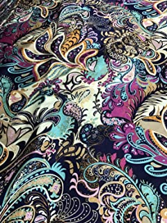 Best floral print silk fabric Reviews