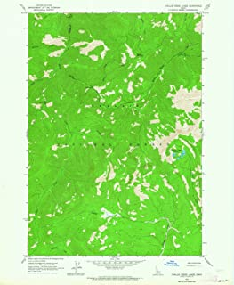 Idaho Maps - 1963 Challis Creek Lakes, ID USGS Historical Topographic Map - Cartography Wall Art - 35in x 44in