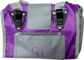 CarryMore 42500 Reusable Sturdy Shopping Tote/Bag (2 Pack), Large, Purple/Gray