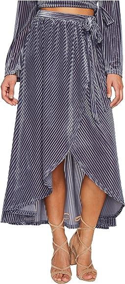 J.O.A. - Tie Waist Wrap Skirt