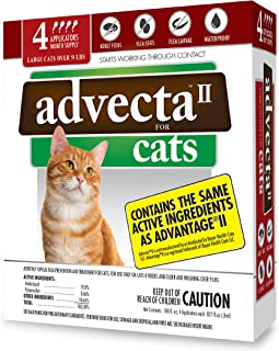 Advecta II Flea Treatment for Cats, 4 Month Supply