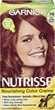 Garnier Nutrisse Nourishing Hair Color Creme, 76 Rich Auburn Blonde (Hot Tamale) (Packaging May Vary)