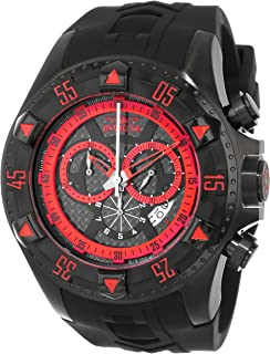 Invicta Men's 12690 Excursion Sport Chronograph Black Carbon Fiber Dial Black Silicone Watch