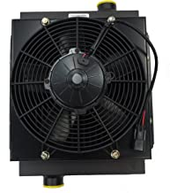 MOBILE HYDRAULIC OIL COOLER DC12V-12 W/ 12V FAN & SHROUD WITH OR WITHOUT BYPASS (No Bypass)