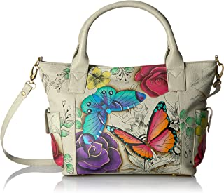 Handpainted Leather Women's Convertible Large Tote