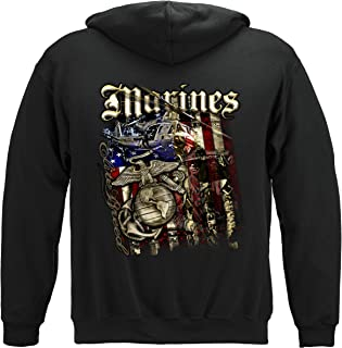 Erazor Bits Marine Corps T-Shirt Elite Breed USMC Marines Aerial Assault T-Shirt THM2067