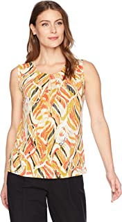 Kasper Women's Printed Ity Twisted Neck Band Cami