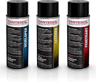 CANTESCO K801S Dye Penetrant Kit, Solvent Removable, 8 Can Kit