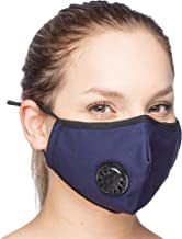 Debrief Me Dust Mask – Anti Pollution Breathable Respirator Mask (1 Mask + 6 Filters) Military Grade N99 Flu Mask Carbon Activated Filtration - Reusable Washable - Comfy Cotton Adjustable (Dark Blue)