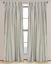 LJ Home Fashions 573 ZOI Lined Faux Silk Pinch Pleat Tab Top Curtain Panel Pair, 30