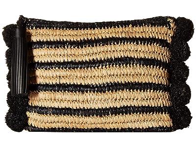 Loeffler Randall Raffia Tassel Pouch (Natural/Black) Handbags