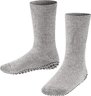 FALKE Haussocken Catspads Baumwolle Wolle Kinder schwarz grau viele weitere Farben verstärkte Hüttensocken ohne Muster atmungsaktiv Noppendruck rutschhemmend auf der Sohle 1 Paar